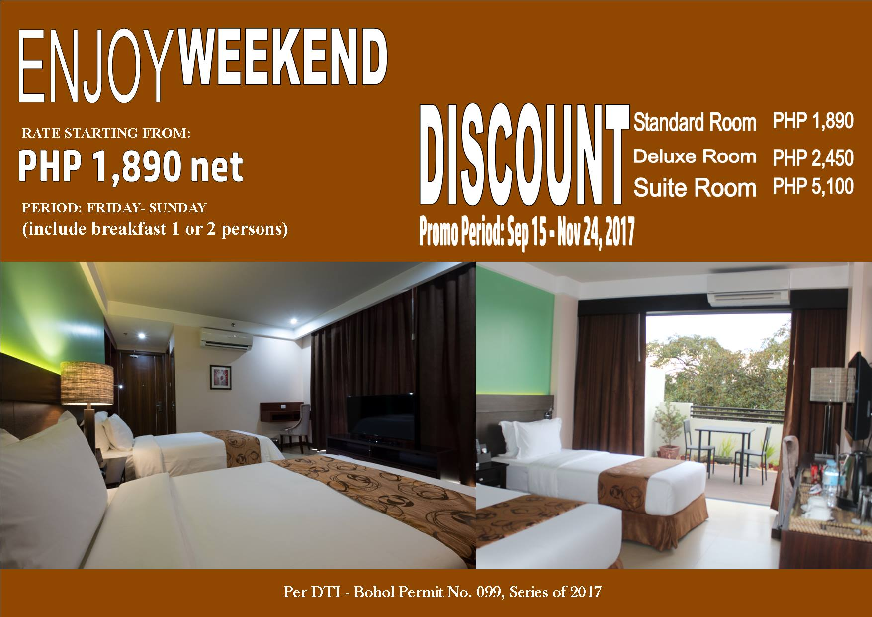 Enjoy Weekend Discount Promo