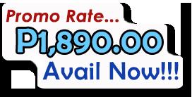 Promo Rate... P1,890.00