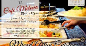 mixed asian cuisine dinner buffet