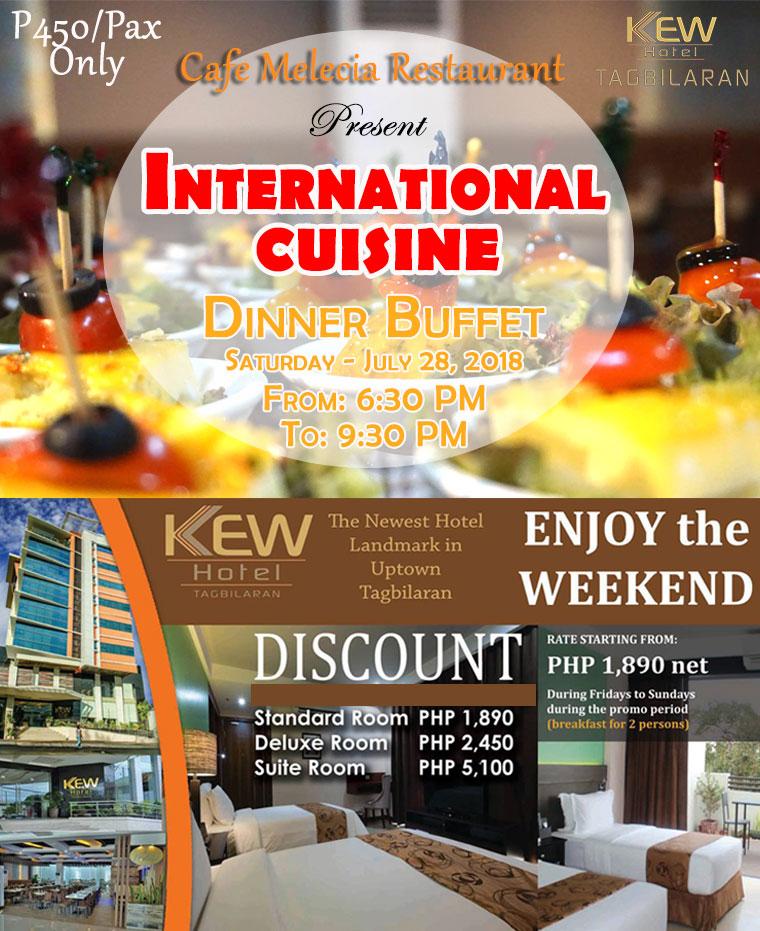 international cuisine dinner buffet