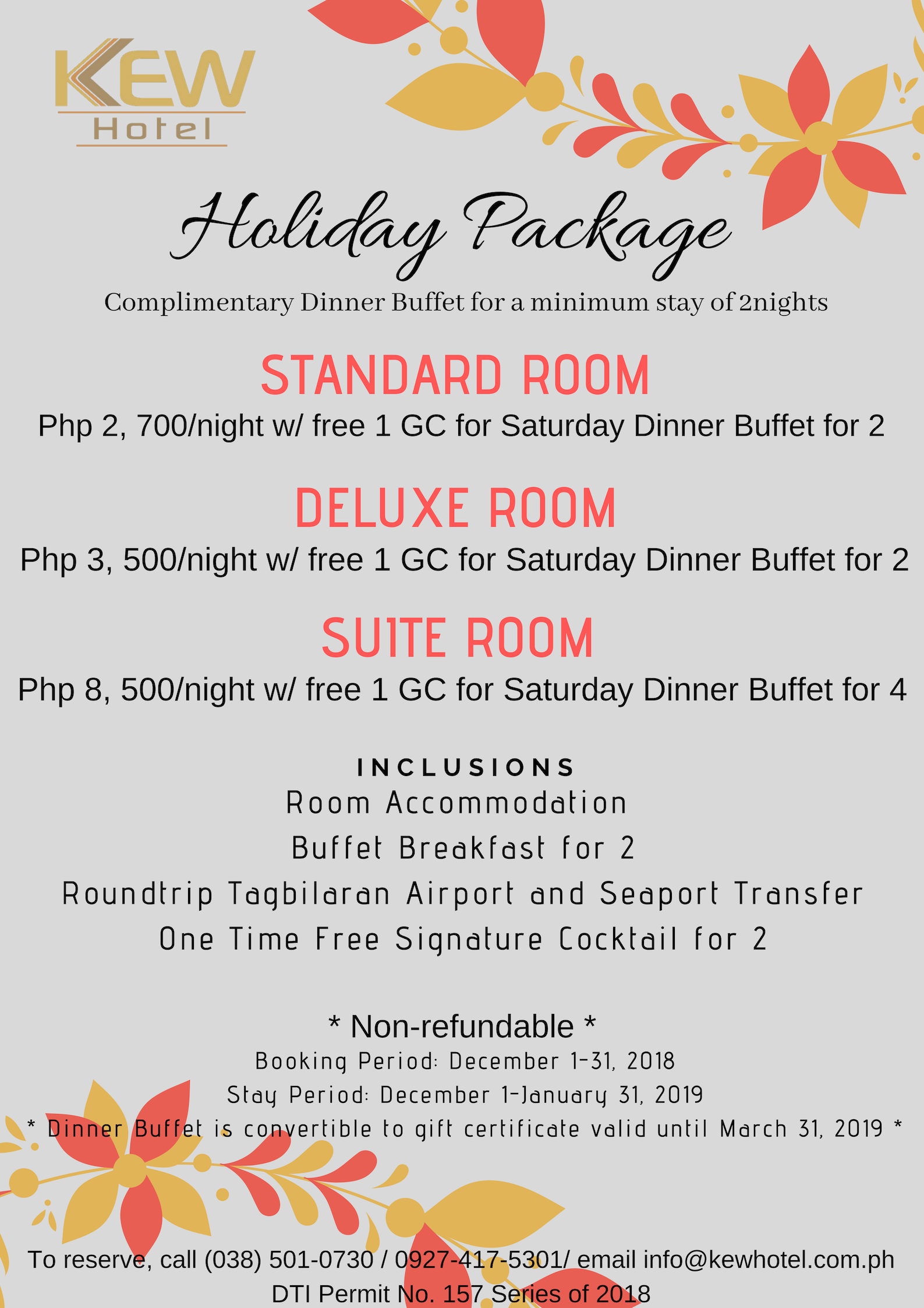 Holiday Package Promo