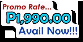 Promo Rate... P1,990.00