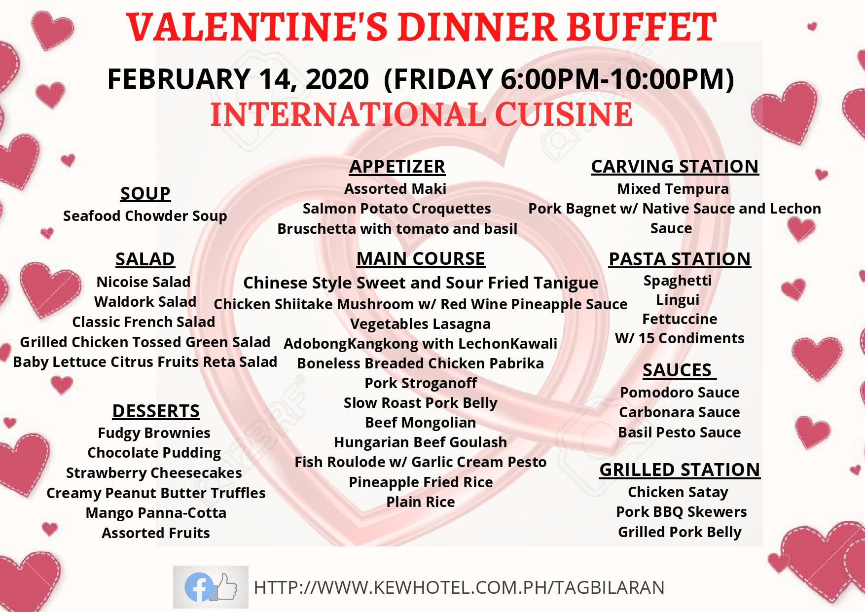 Valentines Dinner Buffet